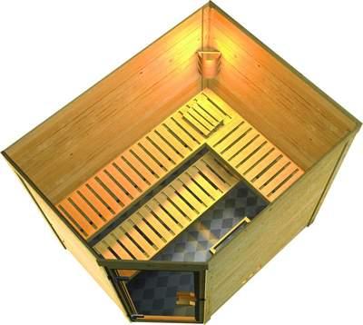 Gro�en Sauna mit 3 B�nken